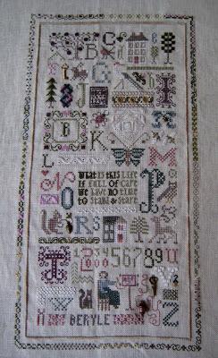 Drawn randome thought Stitching: Jane's 2008 Random Miss