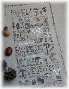 Drawn randome thought Stitches Beautiful Cross by Thread
