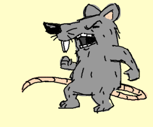 Drawn rat angry Angry (drawing Spidersaiyan) Angry by