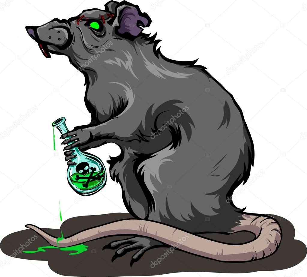 Drawn rat angry Laboratory Vector Stock #97177158 VECORiya