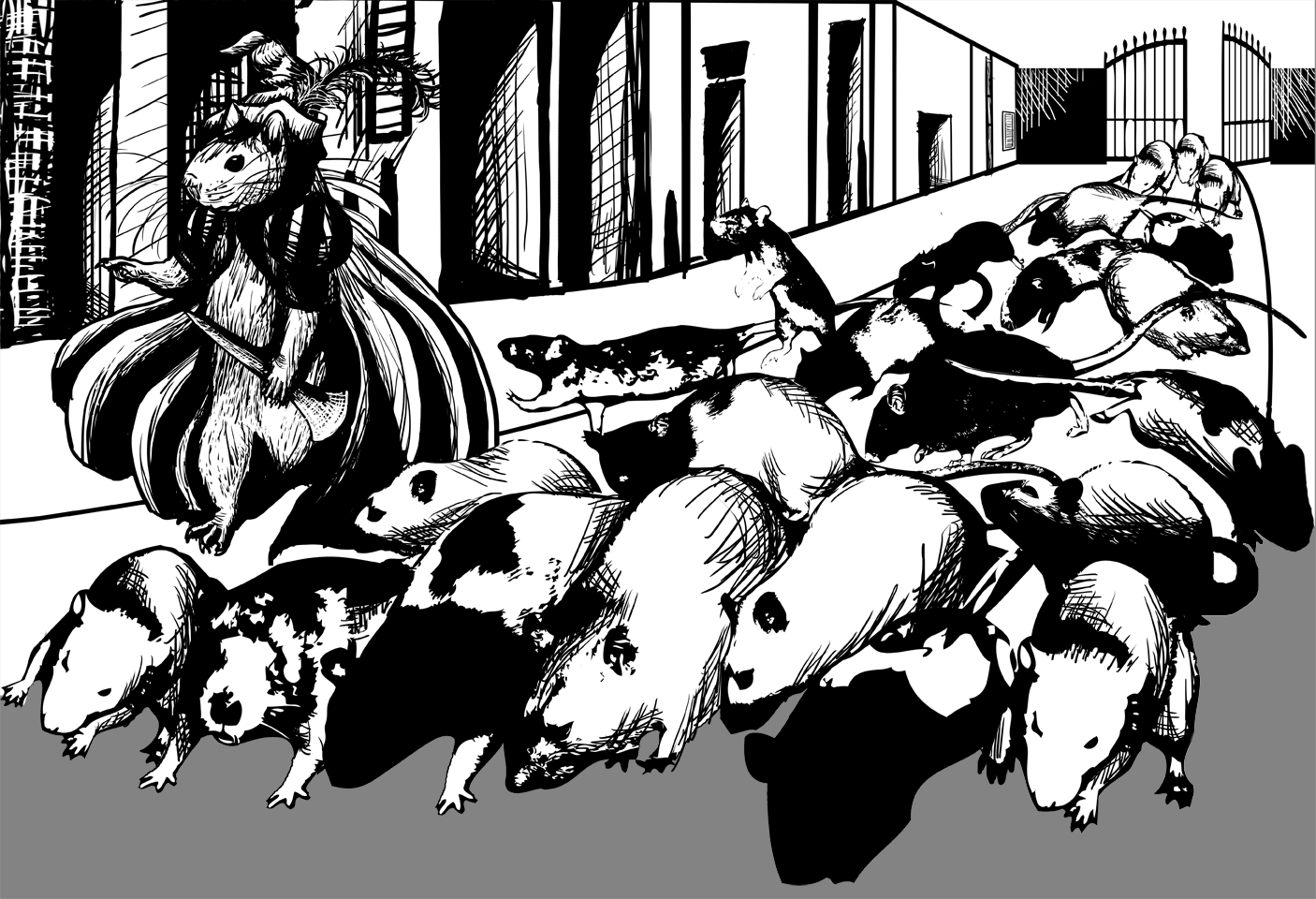 Drawn rat art Very the through open Digital