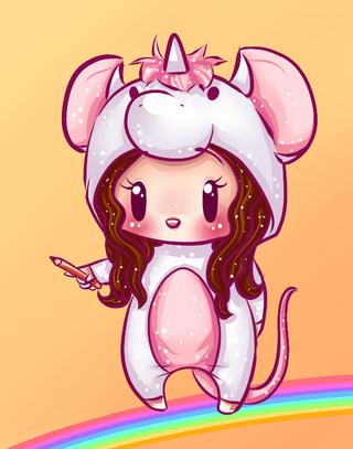 Drawn rat chibi It in :D Onesie/Pyjama Unicorn