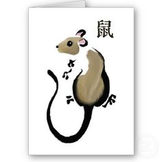Drawn rat chinese year Rat by the of the
