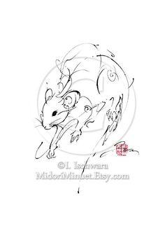 Drawn rat chinese year MidoriMinuet $15 Zodiac Rat tattoo