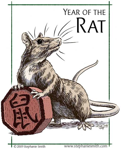 Drawn rat chinese year Scribbles & Scribings The Astrology