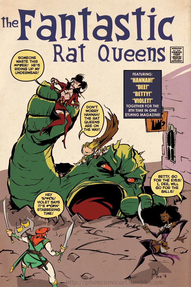 Drawn rat comic Queens Comic Book 190 Fantastic