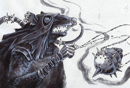 Drawn rat d&d Edition for  Ratfolk Race