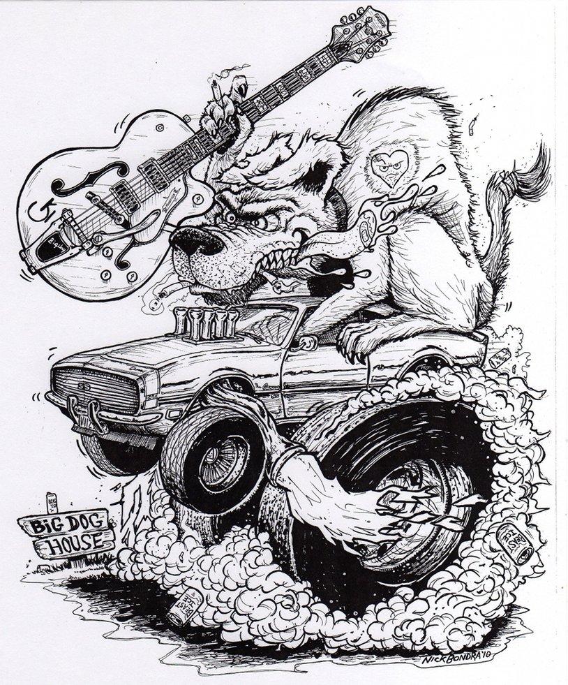 Drawn rat dap Dog Fink by RATFINK Phraggle