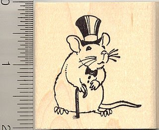 Drawn rat dapper Mailbox the Stamp Rat Rubber