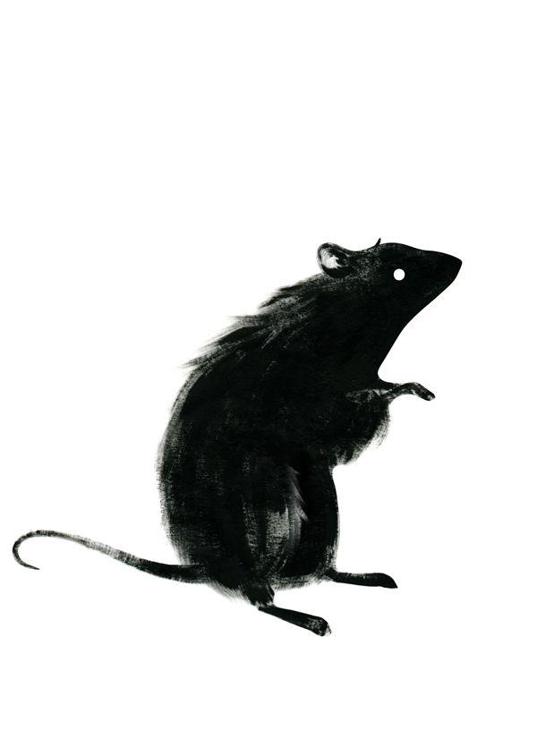 Drawn rat dark  Rat Ingrid Black ideas