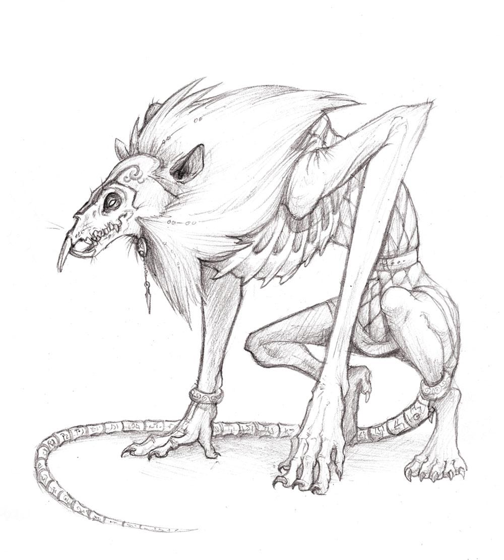 Drawn rat demonic Rat Rat Fiend Fiend Guthrie