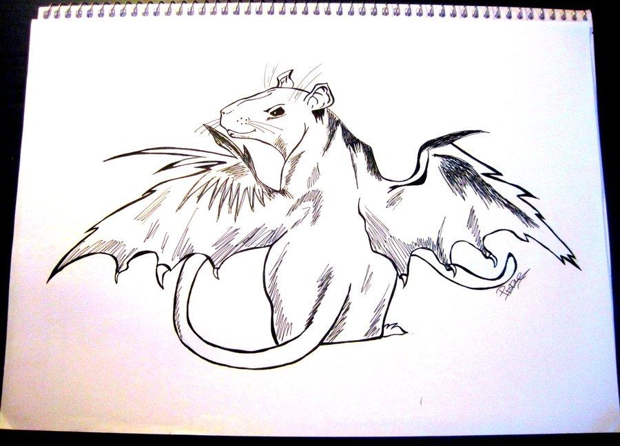 Drawn rat demonic By Demon LittleDem0n Demon DeviantArt