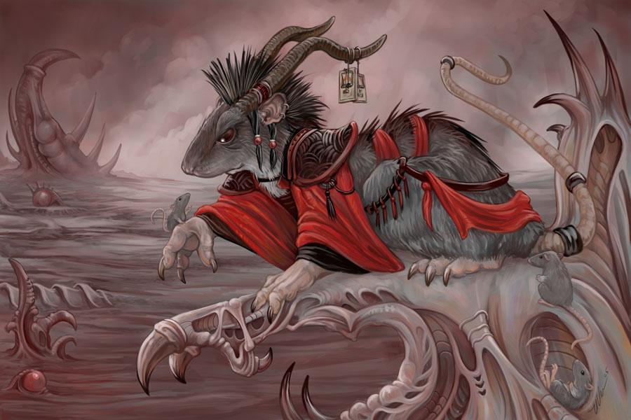 Drawn rat demonic Ursulav of ursulav by The
