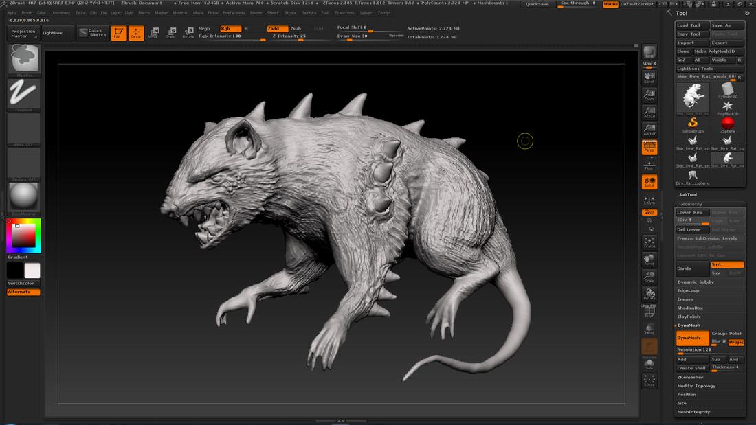 Drawn rat dire ART Malodomini Reimer Rat Dire