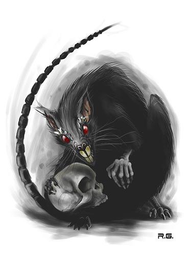 Drawn rat dire Rat the drowned will kill