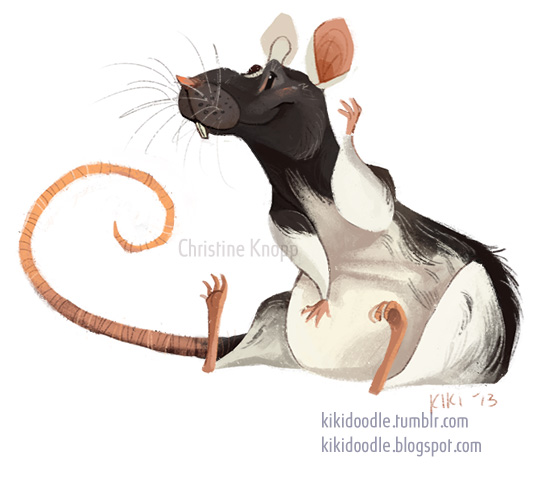 Drawn rat doodle Kiki dumbo rat the Domino