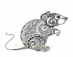 Drawn rat famous Adult butterfly and flowers on