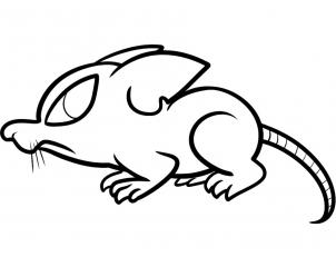 Drawn rat for kid step by step animal To Step to Ink draw