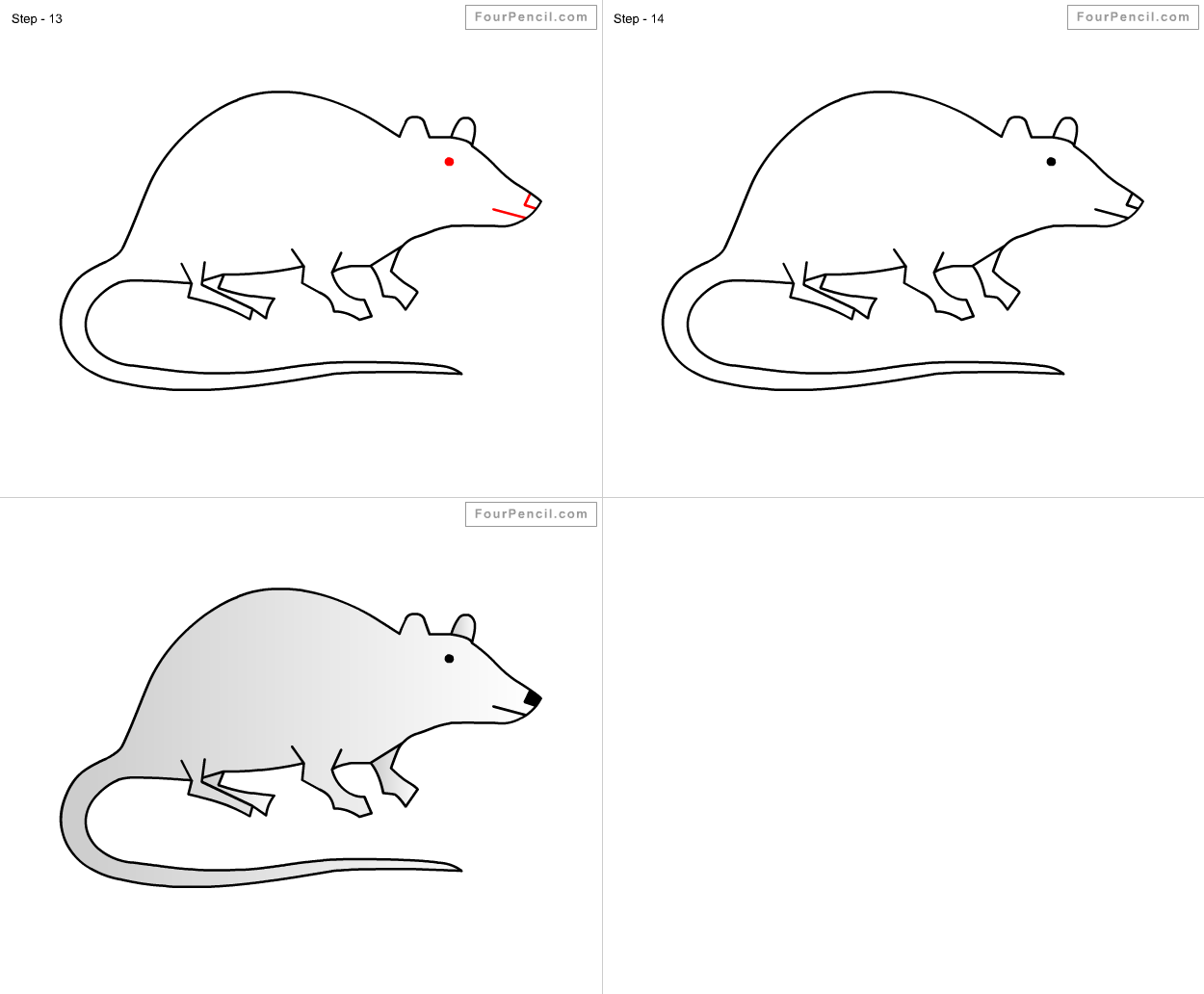 Drawn rat for kid step by step animal How tutorial Rat Rat Rat