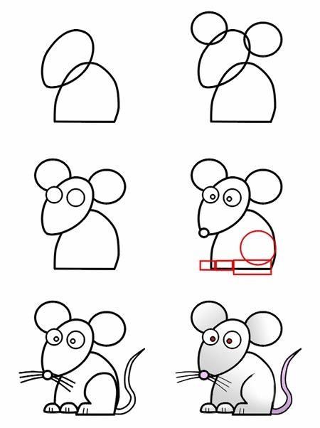 Drawn rat for kid step by step animal Ez D Y Ez rat