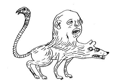 Drawn rat headed Things April 2013 Chaudron just