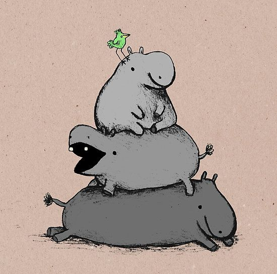 Drawn rat hippo Love more hippo images best