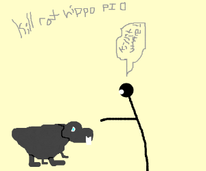 Drawn rat hippo Rat pio (drawing Derpy pio