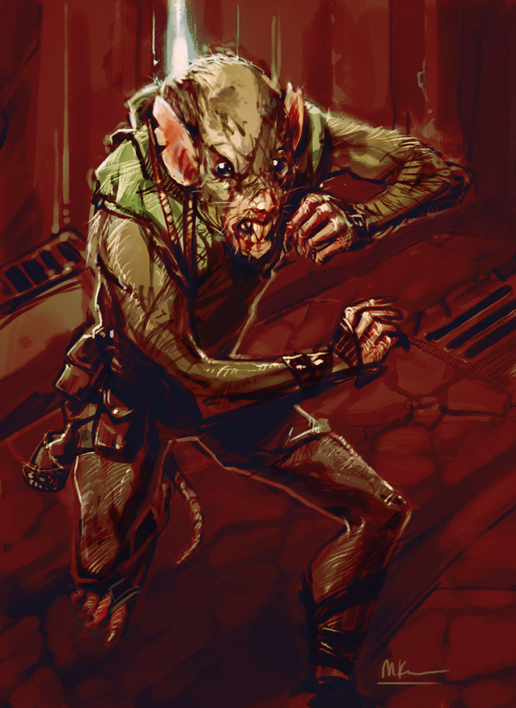 Drawn rat humanoid By on Rat Man by