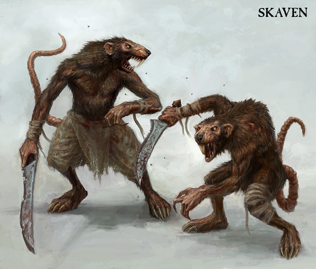 Drawn rat humanoid Powered Wikia Biology FANDOM Skaven