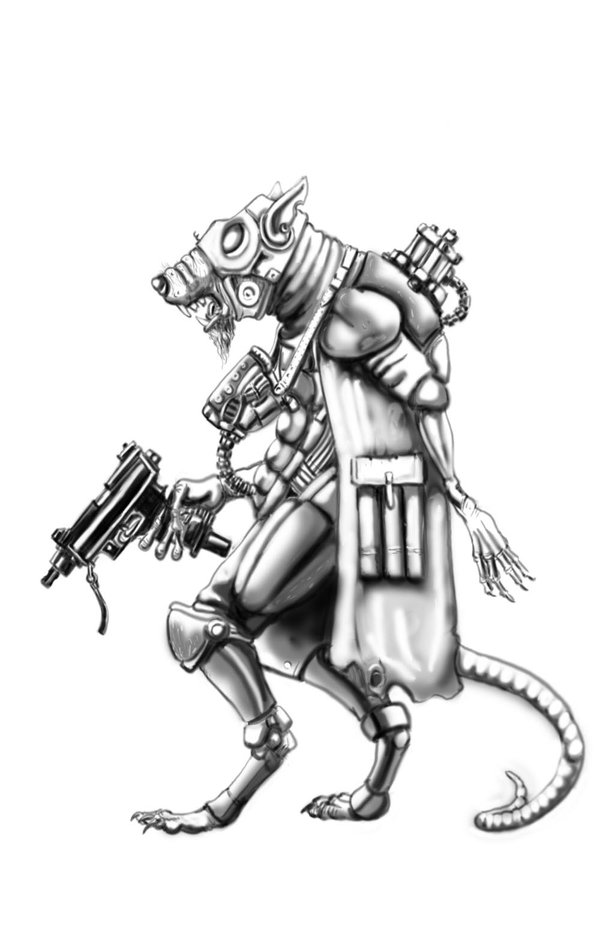 Drawn rat humanoid By on Humanoid Rat by