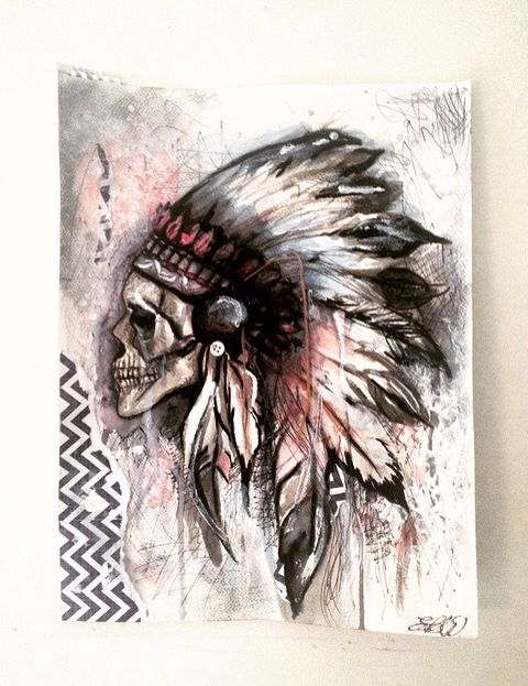 Drawn rat indian Indian watered skull Pinterest ideas