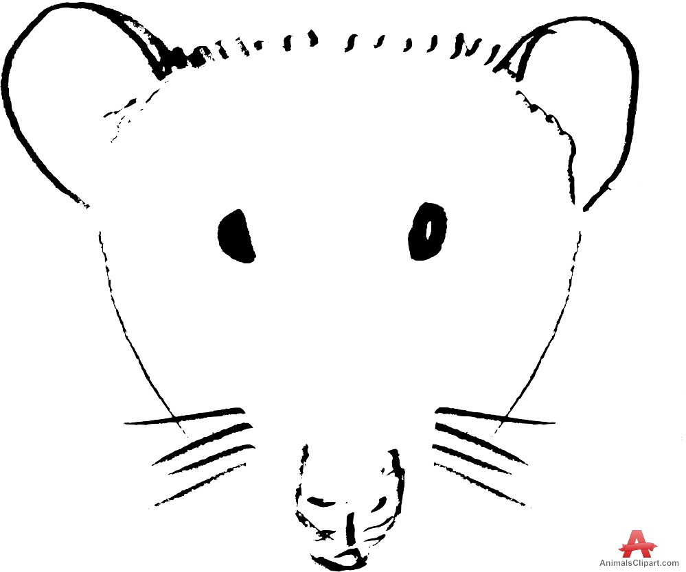 Drawn rat mouse head Mouse Outline Free Head Clipart
