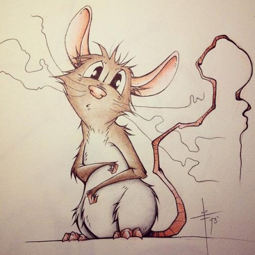 Drawn rat pet rat Based the the #art #