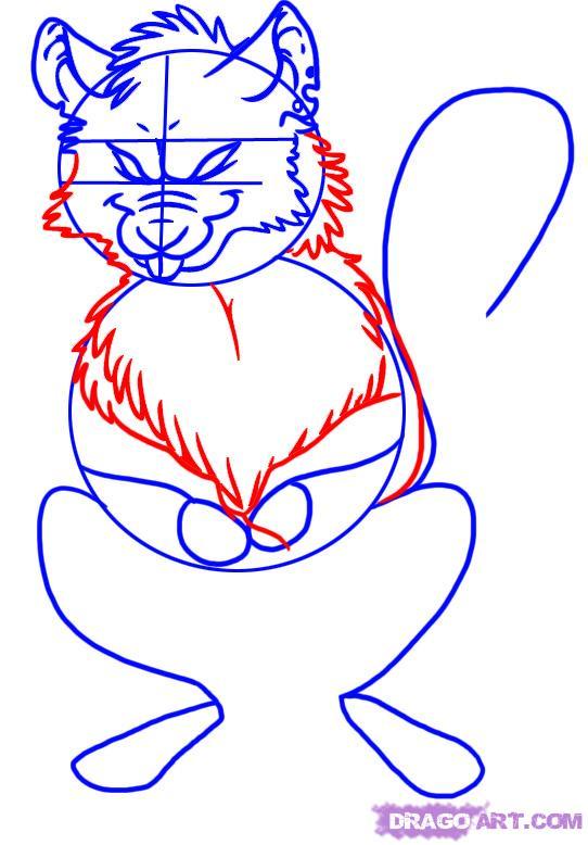 Drawn rat rat head How Step a by draw