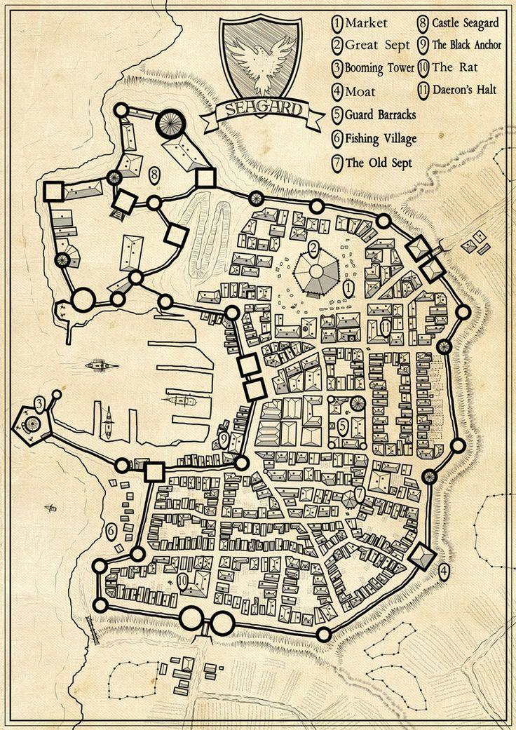 Drawn rat rpg Nerd map maps maps Seagard