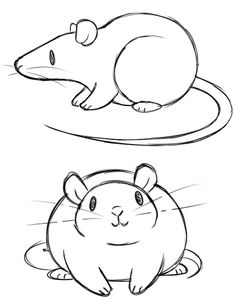 Drawn rat simple How art ; and doodles