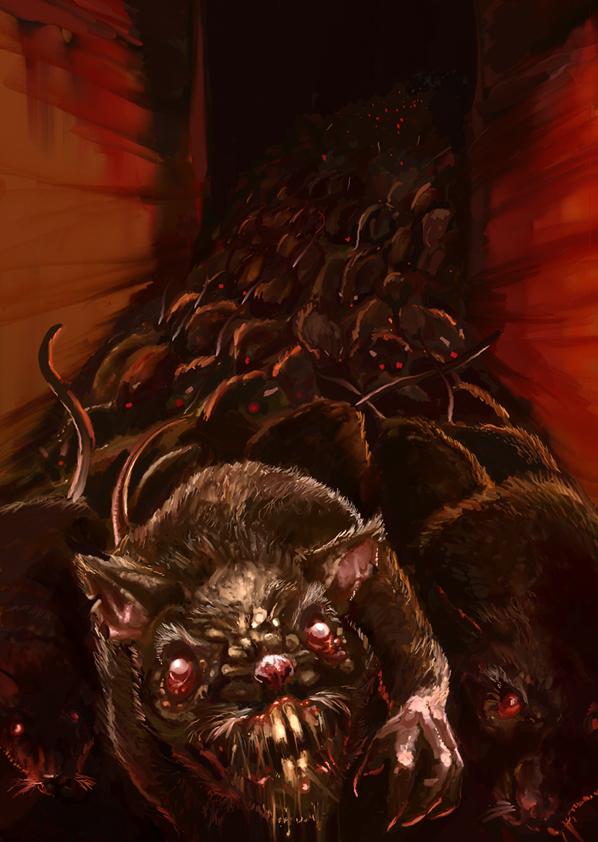 Drawn rat swarm Vermin Rodents & games Avalon