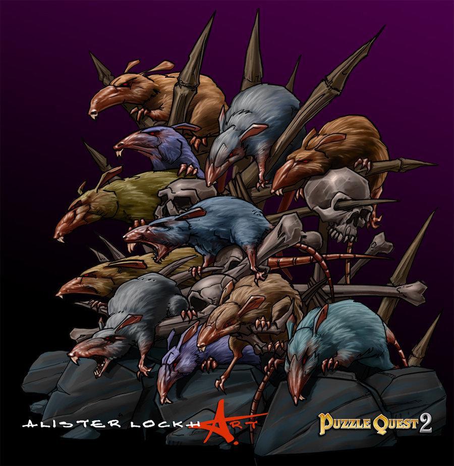 Drawn rat swarm On by Caveatscoti Caveatscoti by