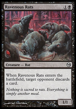 Drawn rat swarm Hand Rat opponent's is cards
