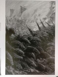 Drawn rat swarm Rat Evil and Medieval swarm