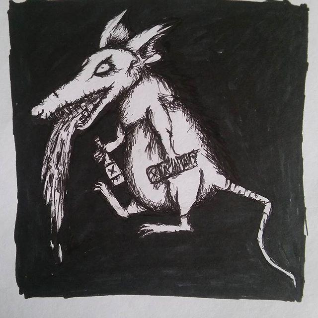 Drawn rat vomit #vomit photos rat #marker #markerdrawing