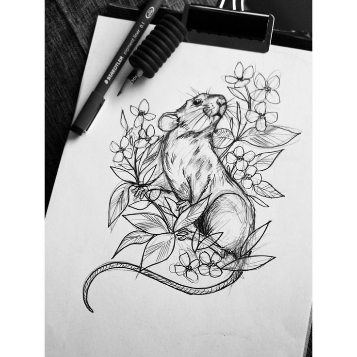 Drawn rat year Tattoo Ratties Rat & Mouse