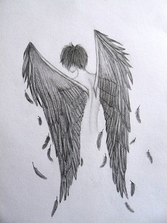 Drawn raven angel Angel on Wilyville by Pencil