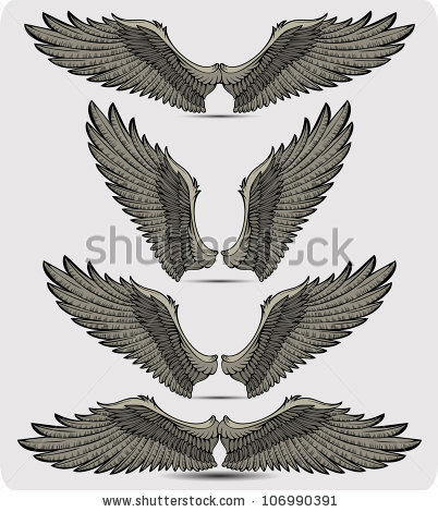 Drawn raven angel Wings images shutterstock http://www Vector