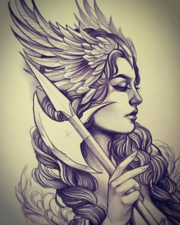 Drawn raven angel Best Pinterest on tattoo