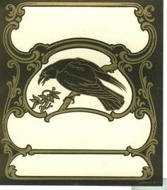 Drawn raven art deco Raven Raven Birds Crows Nouveau