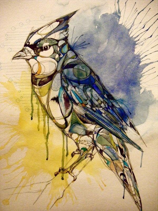 Drawn raven art deco Diamond as this crow Abigail