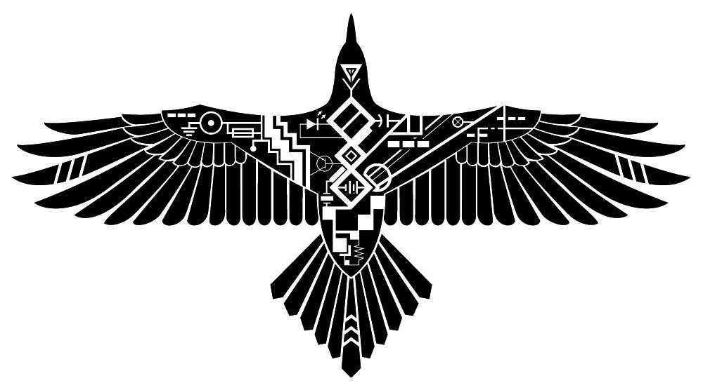 Drawn raven art deco By SteelJaw Raven Raven by