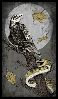 Drawn raven art nouveau Illustration RAVEN/ retro nouveau art