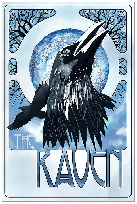 Drawn raven art nouveau RAVEN/ nouveau art Illustration Crow